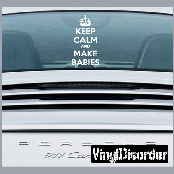 Best Keep Calm Images On Pinterest Bumper Stickers Car - How to make vinyl decals stick