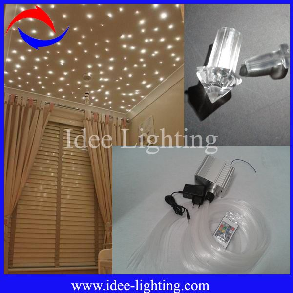 new 7W LED fiber optic light kit for kid's room twinkle starry ceiling 1,ROHS CE 2,accept customized