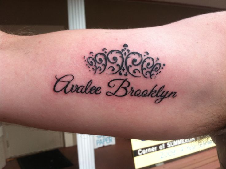 A daughter 39 s name on her dad tattoo pinterest for Daughter name tattoo ideas