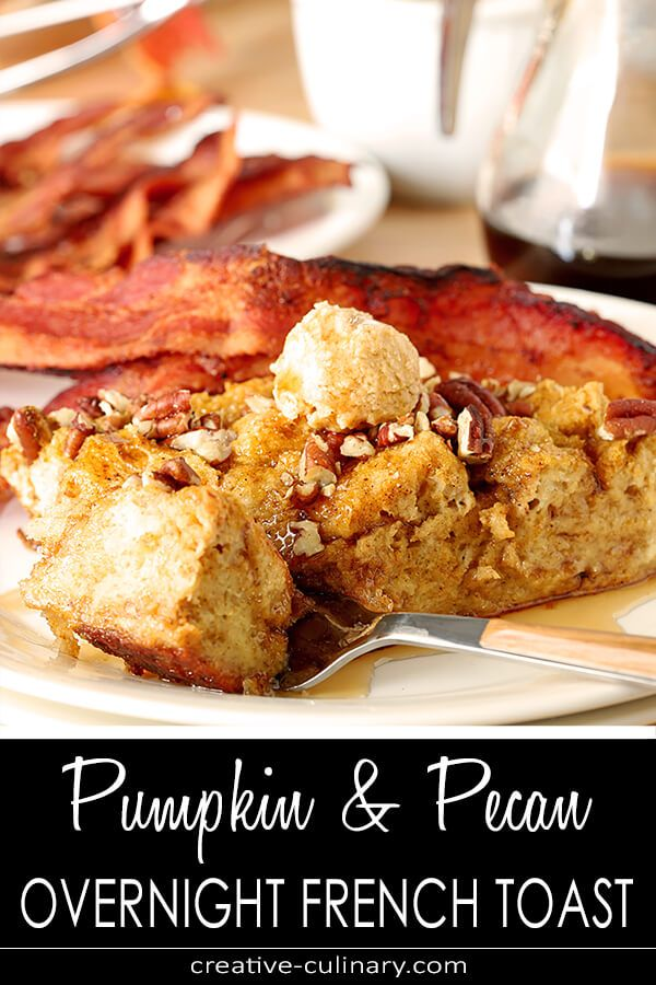 Make your holiday breakfasts easy and delicious with this Pumpkin Pecan Overnight French Toast with Bourbon. Put it together the night before; bake it...