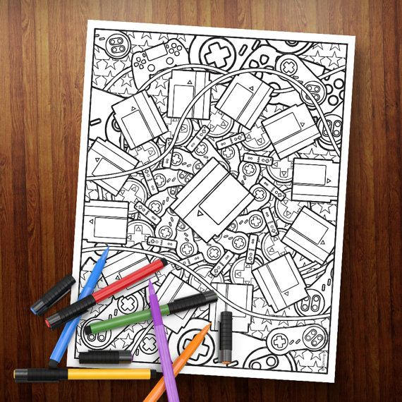 10 best my Coloring pages on ETSY images on Pinterest Gel pens - best of coloring page xbox controller