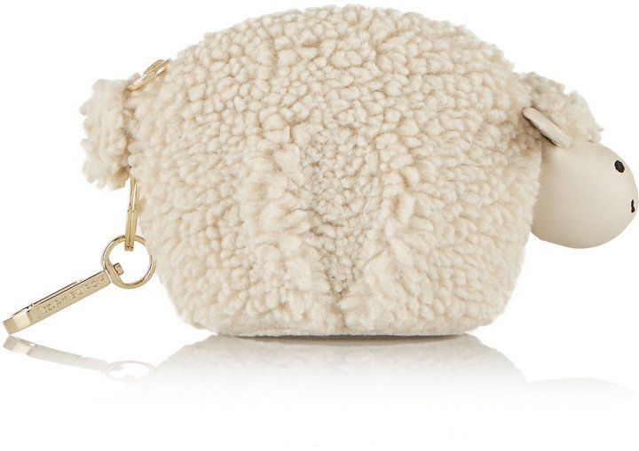 Pin for Later: 150+ Fashion Gifts to Add to Your Holiday Wish List Now  Tory Burch Larry Lamb Faux Shearling Keychain ($115)