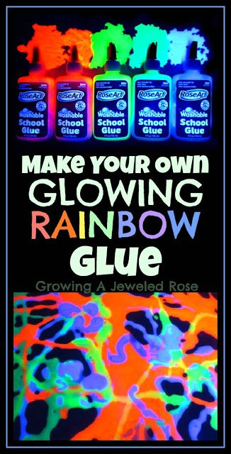 Rainbow glue to make window clings!