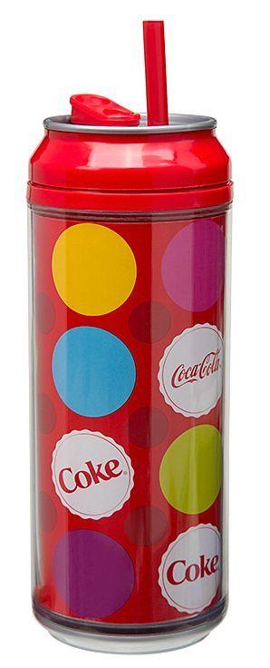Puszka Coca Cola, kolorowe kropki (pojemność: 473 ml) - Cool Gear