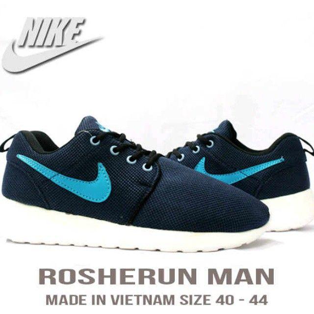 Nike Roshe Run, Warna: Dark Blue, Size : 40-44, Untuk