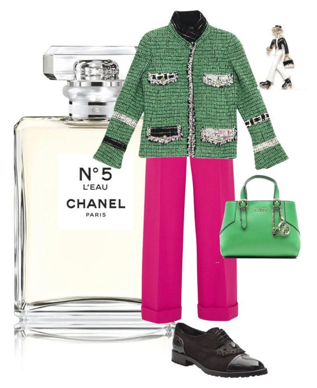 """""""Untitled #98"""" by i-teddybear on Polyvore featuring Chanel, Roland Mouret and GUESS"""
