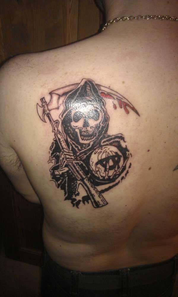Tatouage la faucheuse sons of anarchy tatouage - Tatouage la faucheuse ...