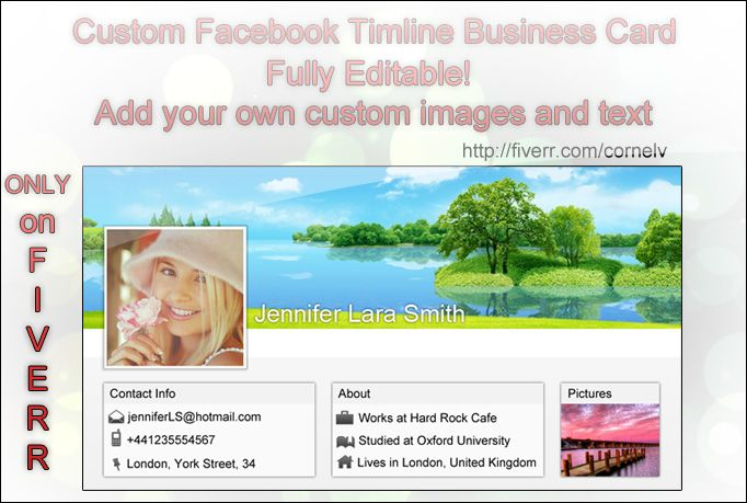 cornelv: create a Facebook Timeline Cover Business Card for $5, on fiverr.com