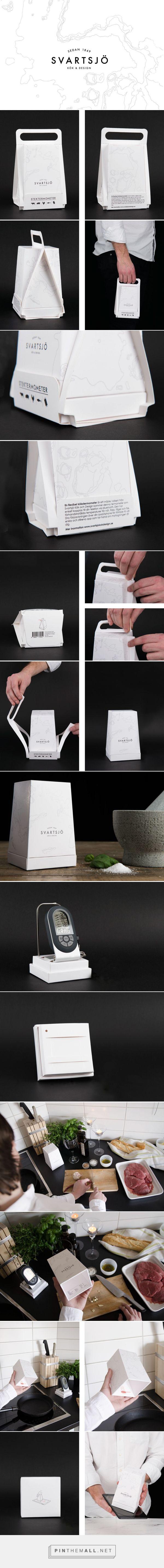 Svartsjö meat thermometer packaging design with heat sensitive ink by Josefine Johansson, Kinna Andersson, Viktor Andersson - http://www.packagingoftheworld.com/2016/08/svartsjo-concept.html