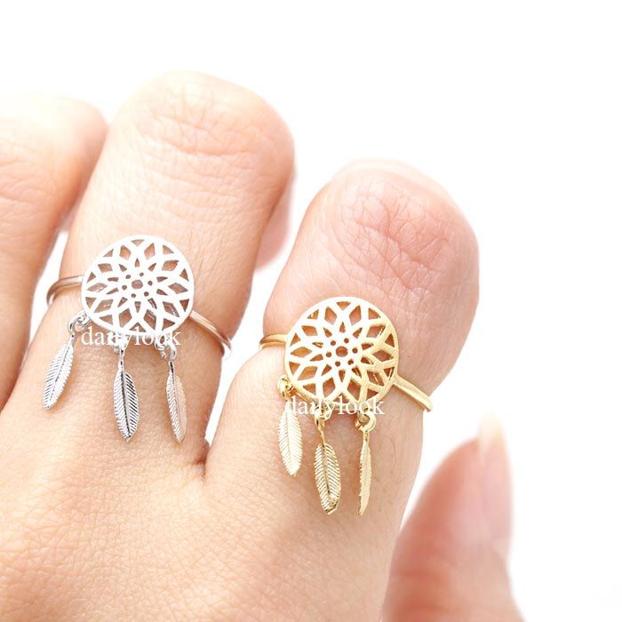 dream catcher ring, dream catcher, adjustable ring, stretch ring, woman ring, man ring, unique ring, wish ring, boho ring, indian ring by DailyLook on Etsy https://www.etsy.com/listing/222964015/dream-catcher-ring-dream-catcher