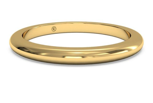 Women S Modern Sculptured Wedding Band In 18kt Yellow Gold