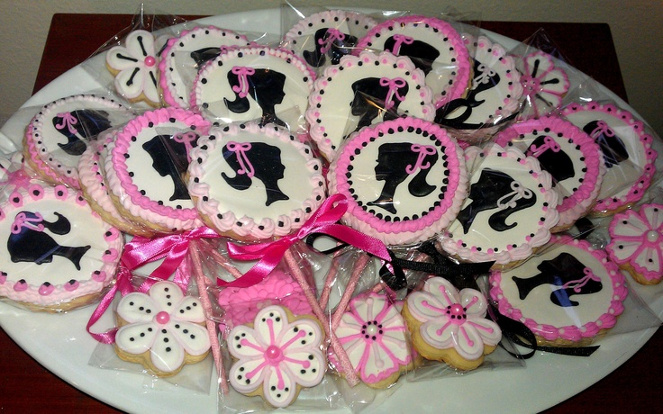 15 For Alison Custom Listing Barbie Silhouette Decorated Sugar Cookies Party  favor