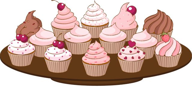 This Free Cupcake Clip Art is Adorable!: A Plate of Cupcakes