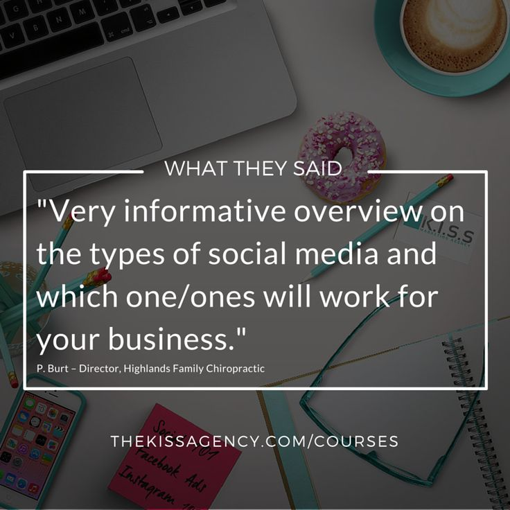 Let us help you get your head around the latest trends, best practices and technology for effective social media management.  For more information or to register for an upcoming course, visit http://www.thekissagency.com.au/courses