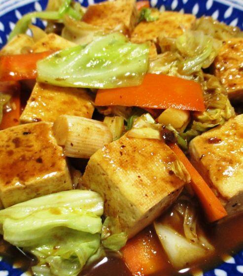 豆腐のホイコーロー風 B