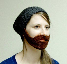 This #crochet pattern puts a smile on my face every time I see it. The Bearded Hat can be fun for the whole family. Work it up in fun festive colors to cheer on your favorite sports team!