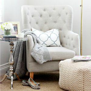 cozy new reading nook