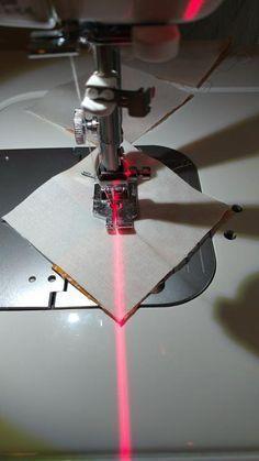 Adding a laser to a Juki sewing machine