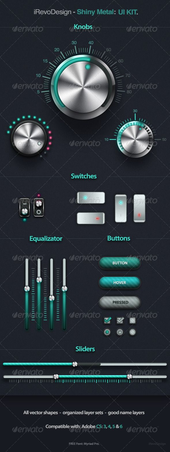 Shiny Metal - UI Kit