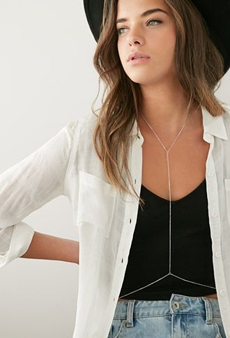 Rhinestoned Bar Body Chain | FOREVER21 | #f21accessorize