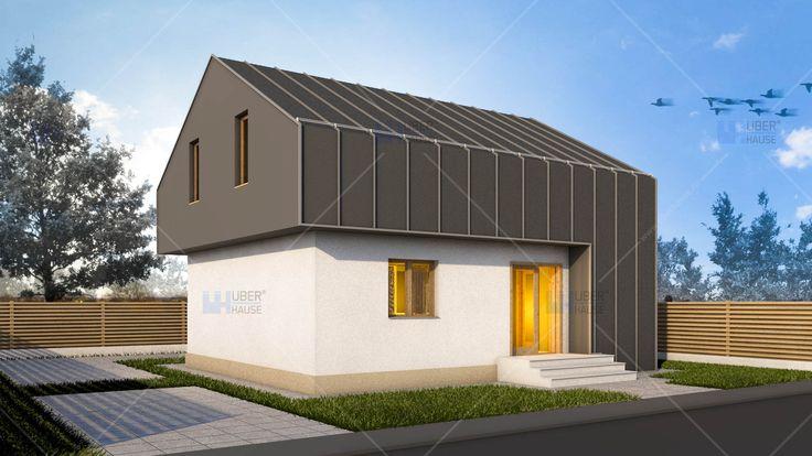 Proiect casa Parter + Mansarda - Compakt. Mai multe detalii gasiti aici: https://www.uberhause.ro/proiect-casa-parter-mansarda-compakt