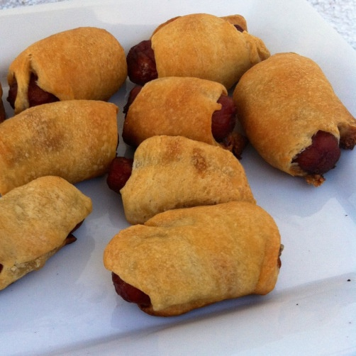 baseball party food mini pigs in a blanket