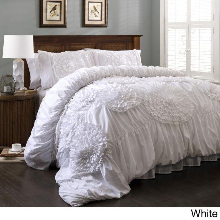 lush decor serena 3piece comforter set shopping the best