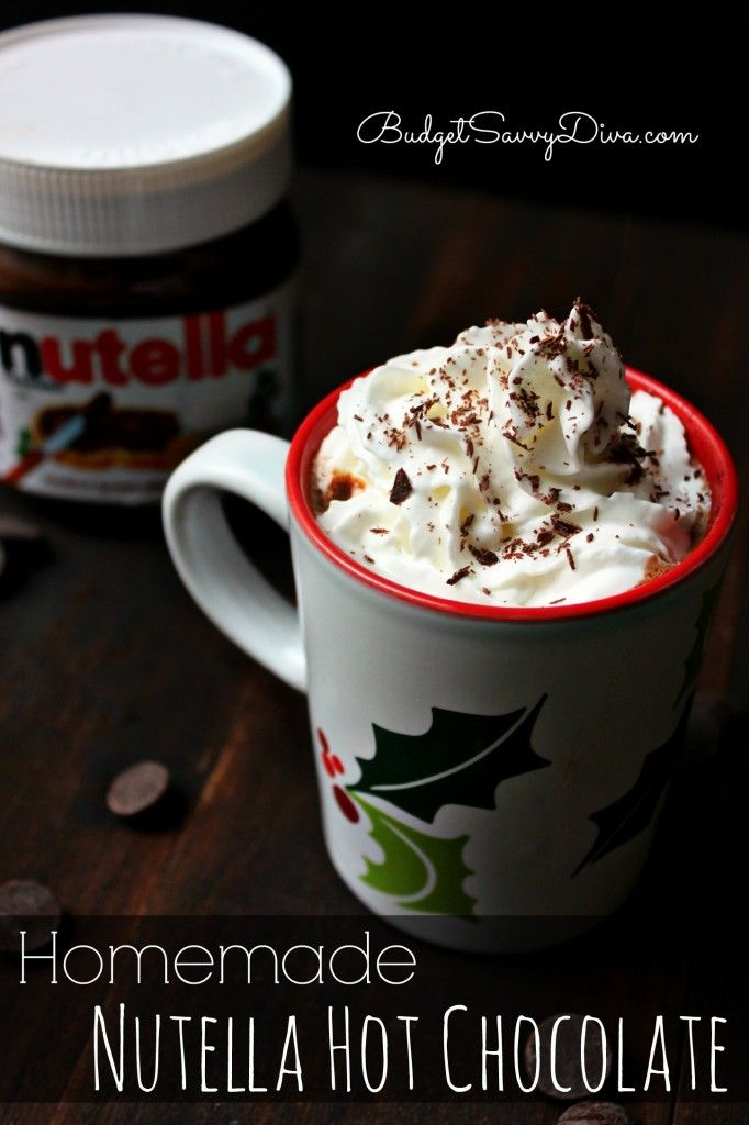It is perfection liquified. Gluten - Free. Homemade Nutella Hot Chocolate