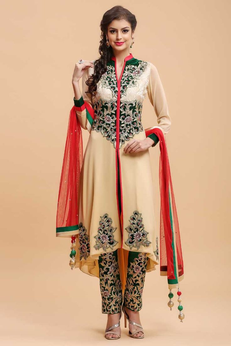 Beige and Green Straight Suit Paint  http://www.andaazfashion.co.uk/salwar-kameez/trouser-suits/beige-and-green-straight-suit-paint-1681.html