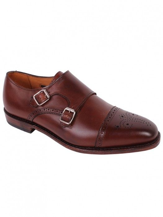 Allen Edmonds St. John's Double Monk Strap in Chili