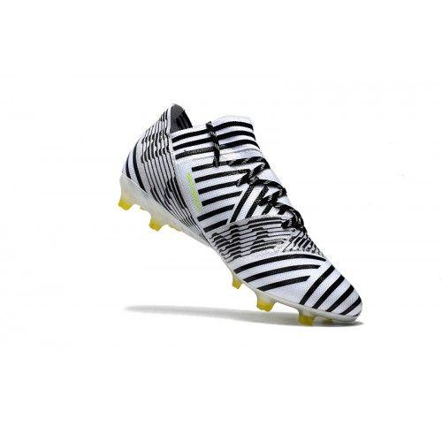 Billige Fodboldstøvler Tilbud - Bedst Adidas Nemeziz 17.1 FG Sort Gul Fodboldstovler