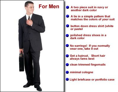Dress color code for interview