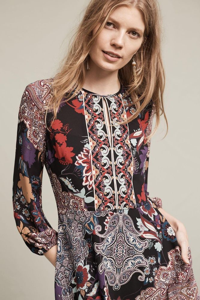 f95ccdf35752 New Anthropologie Lecato Peasant Dress by Donna Morgan $188 Size 2 Now $78 # Anthropologie #DonnaMorgan