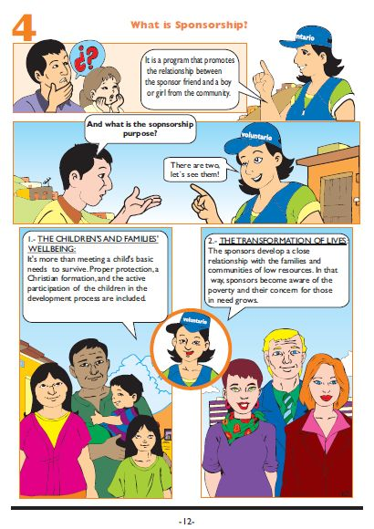 A comic from Peru to introduce child sponsorship to children.