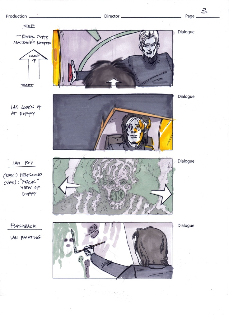 Storyboarding scenes from Act One of Clan of the Vein feature film.  Who doesn't love a dark brooding painter, especially when he's a vampire!