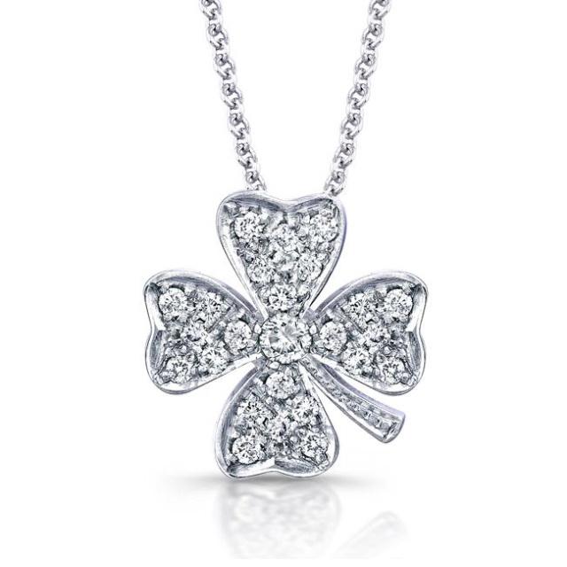 Four leaf clover necklace: Clover Necklace I, Style, 4Leaf Clovers, Four Leaf Clover, Pretty Things, Beautiful, Jewelry, Accessories ️, Diamond Necklaces