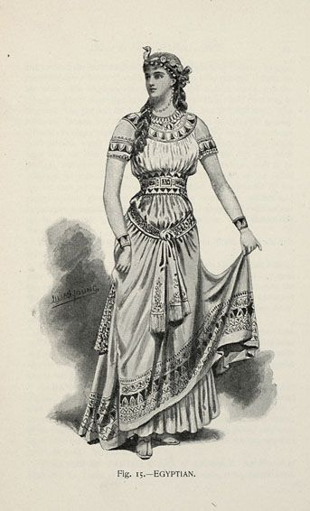 Egyptian from 'Fancy Dresses Described; or, What to Wear at Fancy Balls,' by Hold, Ardern, 1896