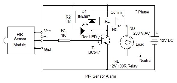 Wiring Diagram Pir Light Switch