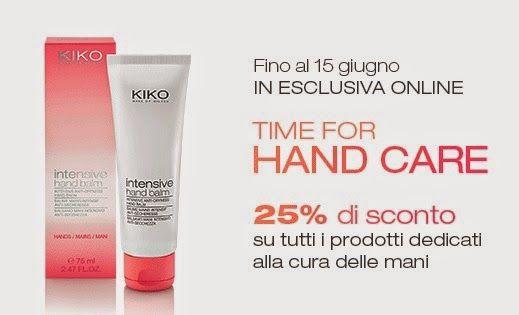 """[News] KIKO - Promo """"Time for Hand Care"""": prodotti cura delle mani -25%"""