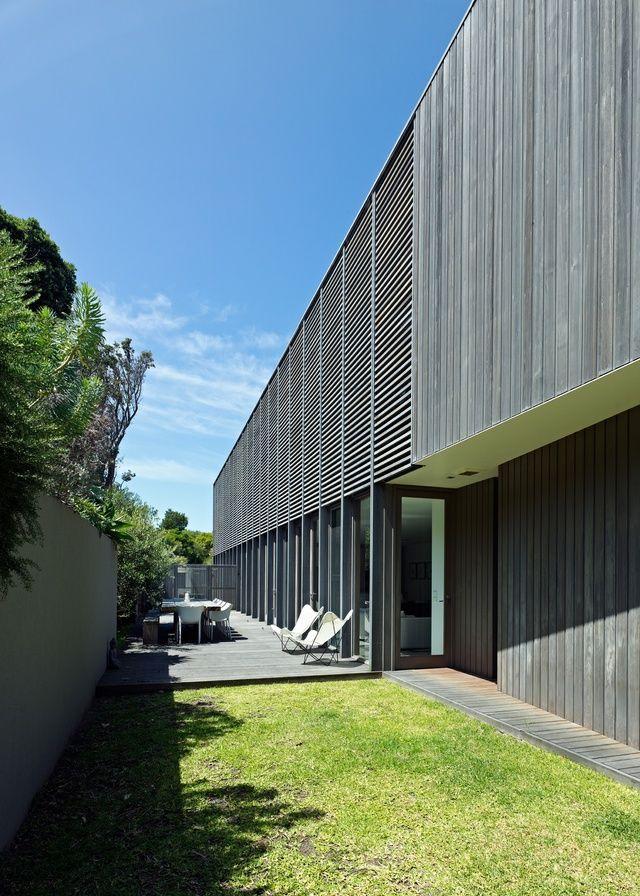 Unstinted, 'silvered-off' blackbutt cladding. Flinders Residence   ArchitectureAU