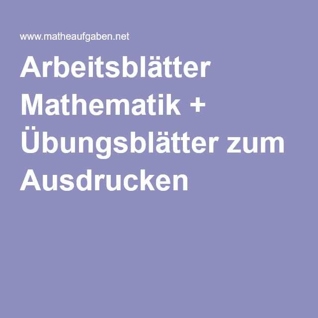 Arbeitsblatt Vorschule u00bb Matheaufgaben Fu00fcr Die 2 Klasse ...