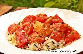 Manus Küchengeflüster: Putengeschnetzeltes in Tomaten-Kokos-Sauce