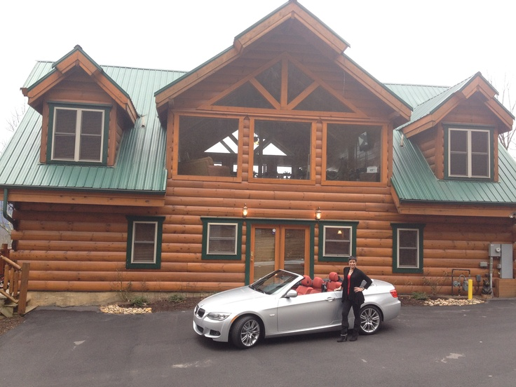 Bethany Webster from Tennessee. We love this pic of Bethany. This spitfire was a registered nurse who ran her own photography studio. Now she's one of the top earning females in WorldVentures, and here she is posing in front of her new silver 335i BMW convertible and the gorgeous 6 bedroom, 6 bathroom cabin (with an 8 person hot tub) overlooking the Smokey Mountains that WorldVentures paid for. #WingsWheels #WorldVentures http://facebook.com/WorldVentures