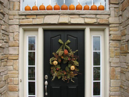 Fall Decorating Ideas for the Front EntryThe Doors, Doors Ideas, Decor Ideas, Black Doors, Decorating Ideas, Front Doors, Autumn Decor, Fall Decorating, Holiday Decor