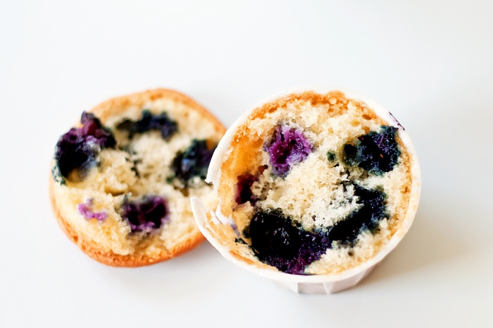 Blueberry Coffee Cake Muffins adapted from Ina Garten