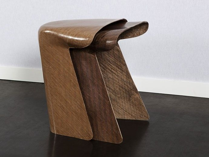 #sustainable #compositematerials #fabric Toul stool from bio-composite material. - Bio-composite jute stool  Stool is made from jute fibers and bio resin. It is presented as socially responsible for farmers in Bengladesh, as an economic alternative to fiber glass imports and as a environmentally friendly solution to replace fiber glass in composite materials.