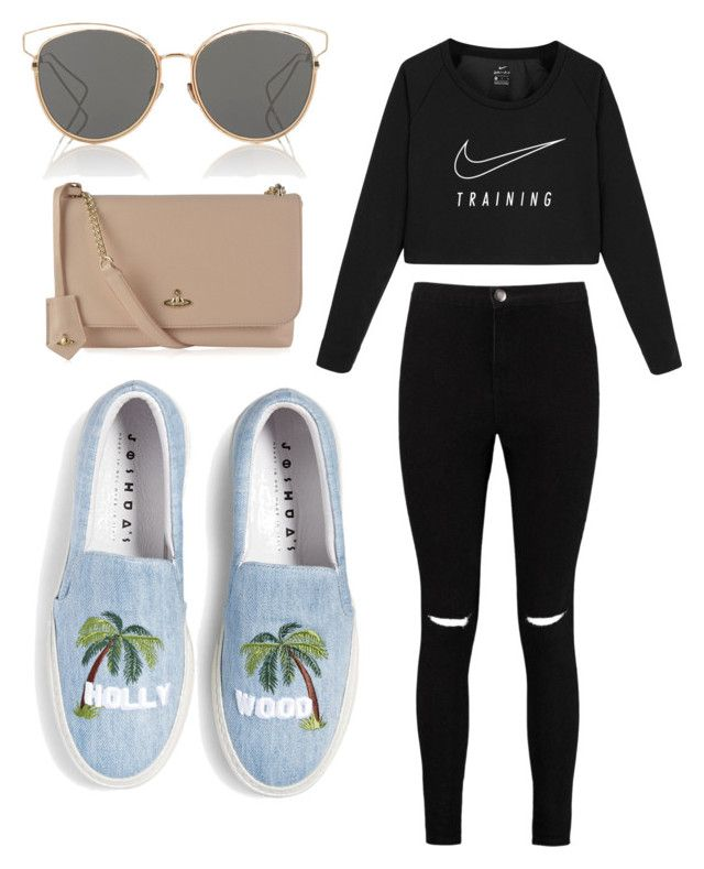 """Mall outfit"" by dvenus on Polyvore featuring NIKE, Boohoo, Vivienne Westwood and Christian Dior"