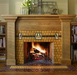 17 best images about craftsman style fireplace on for Craftsman gas fireplace
