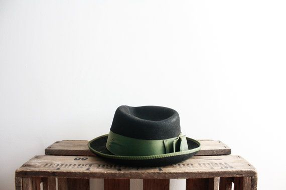 Vintage 1960s Black Fedora Hat Retro by ThePenduline on Etsy