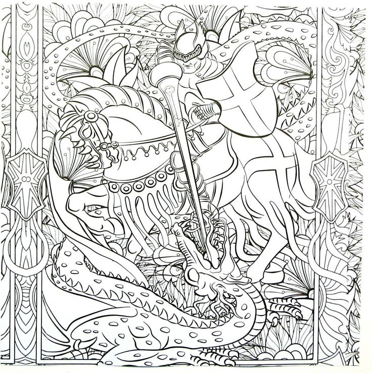 fantasy coloring pages eagles knights - photo#15